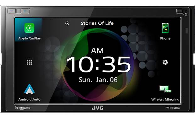 JVC KW-M865BW Add wireless Apple CarPlay and Android Auto