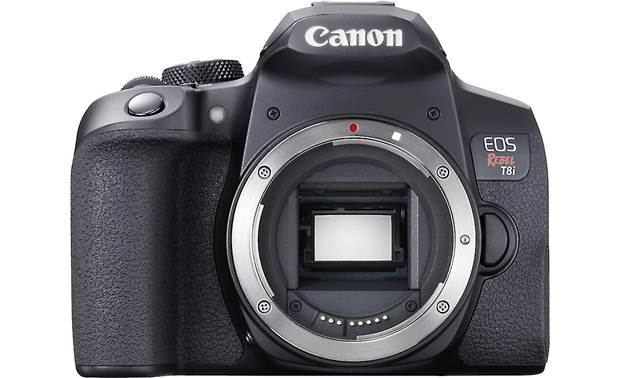 Canon EOS Rebel T8i (no lens included) Shown with body cap removed