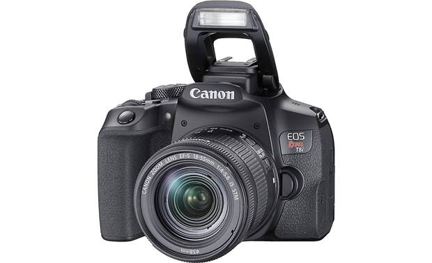 Canon EOS Rebel T8i Kit A built-in flash lets you add light to your subject