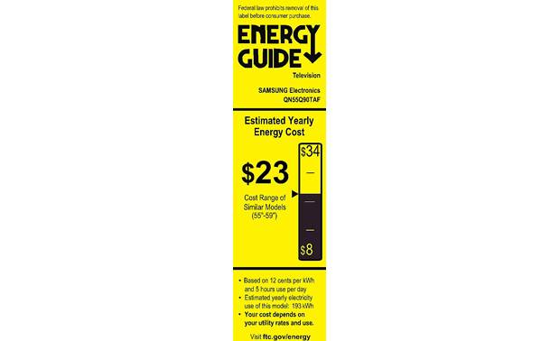 Samsung QN55Q90T Energy Guide
