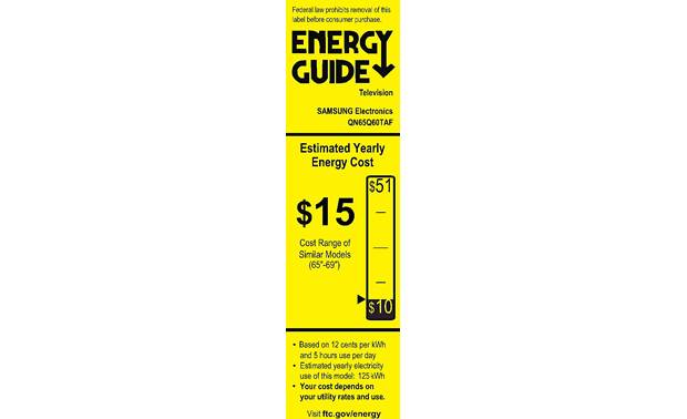Samsung QN65Q60T Energy Guide