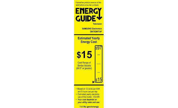 Samsung QN75Q60T Energy Guide
