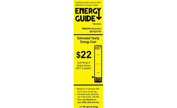 Samsung QN75Q70T Energy Guide