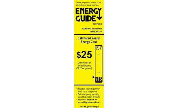 Samsung QN75Q80T Energy Guide