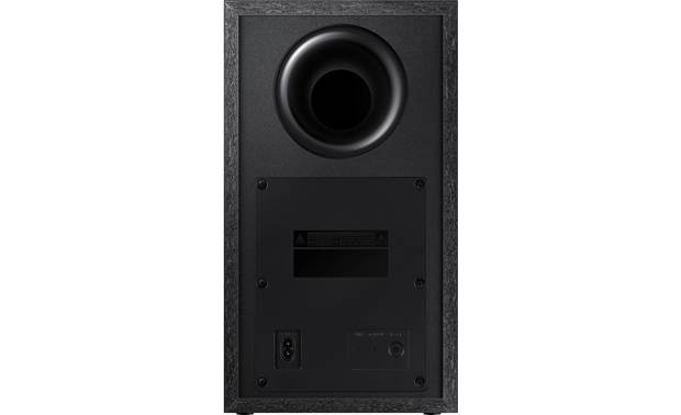 Samsung HW-T550 Ported subwoofer enclosure delivers deep bass