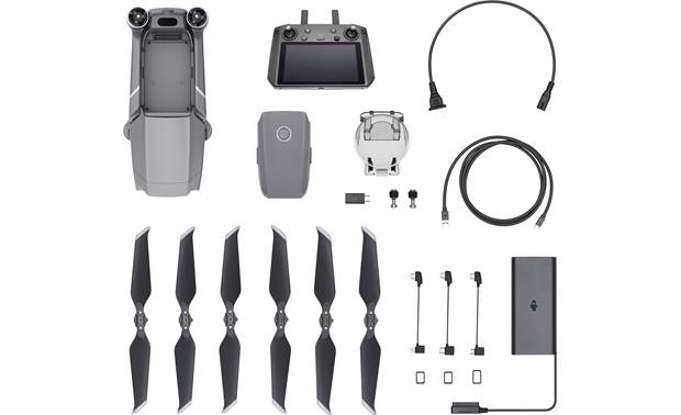 DJI Mavic 2 Zoom with Smart Controller Shown with included accessories