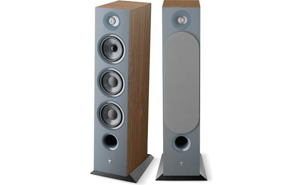 Focal Chora 826 Pair shown (one grille off, one grille on)