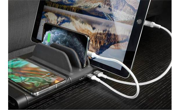 Scosche BaseLynx™ BLKIT5 Charge up to four devices simultaneoulsy (smartphone, tablet, and cables not included)