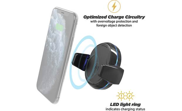 Scosche MGQD-XTET LED ring indicates charging status