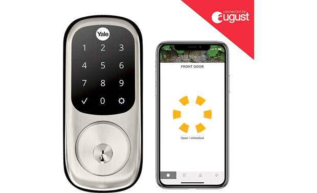 Yale Real Living Assure Lock Touchscreen Deadbolt (YRD226) with Wi-Fi Module Control the lock with the August app on your smartphone