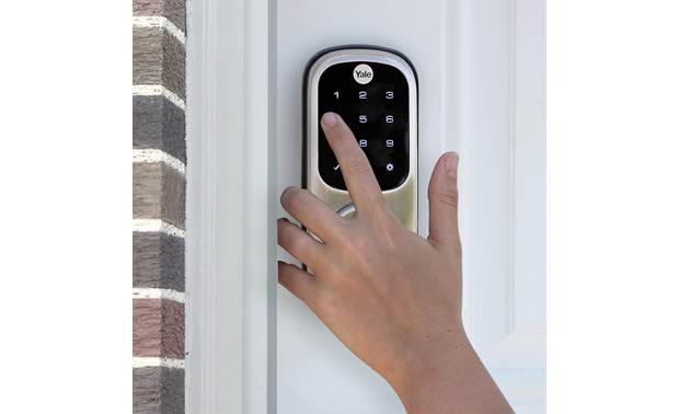 Yale Real Living Assure Lock Touchscreen Deadbolt (YRD226) with Wi-Fi Module Backlit numbers make it easy to see