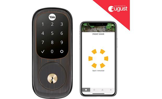 Yale Real Living Assure Lock Touchscreen Deadbolt (YRD226) with Connected by August kit Control the lock with the August app on your smartphone