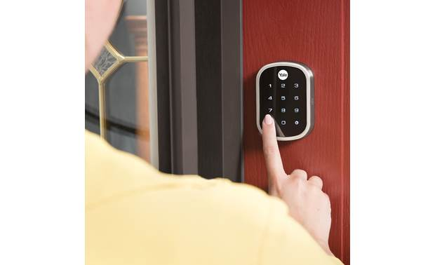 Yale Real Living Assure Lock SL Key-free Touchscreen Deadbolt (YRD256) with Connected by August kit Backlit numbers are easy to see