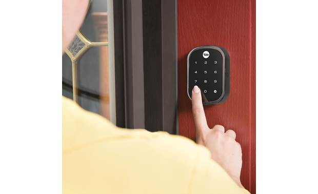 Yale Real Living Assure Lock SL Key-free Touchscreen Deadbolt (YRD256) with Wi-Fi Module Backlit numbers make it easy to see
