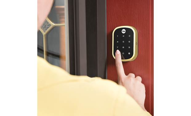 Yale Real Living Assure Lock SL Key-free Touchscreen Deadbolt (YRD256) with Z-Wave® Backlit numbers make it easy to see