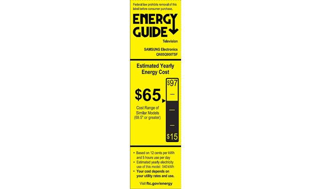 Samsung QN85Q900T Energy Guide