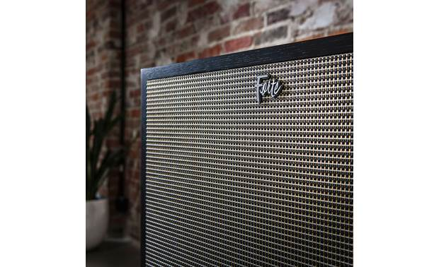 Klipsch Heritage Forte IV Close up view of grille with Forte logo