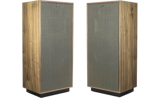 Klipsch Heritage Forte IV Pair angled in, with grilles