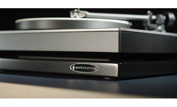 IsoAcoustics zaZen I Shown with turntable in place (not included)