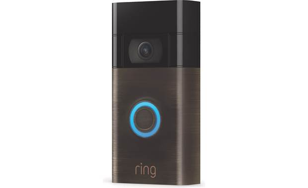 Ring Video Doorbell (2020 Release) Built-in speaker and microphone with noise cancellation for two-way talk