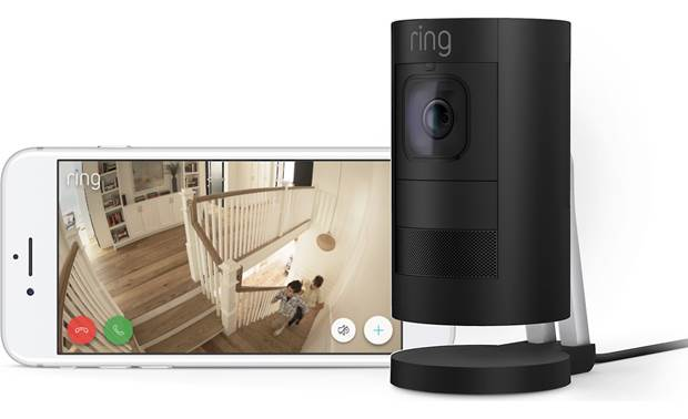 Ring Stick Up Cam Wired, 2nd generation (factory refurbished) Two-way talk lets you tell the kids to slow down on the stairs from wherever you are