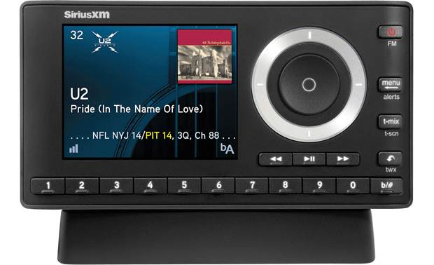 SiriusXM Onyx Plus The Onyx Plus in the home kit's cradle