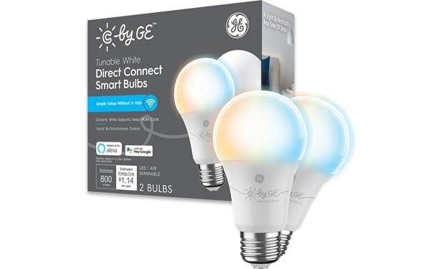 C by GE Smart White Dimmable/Tunable A19 Bulbs Front