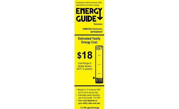 Samsung QN70Q60A Energy Guide