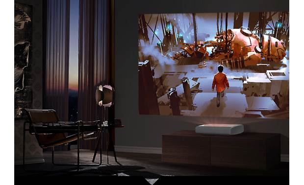 Samsung The Premiere LSP9T Ultra short throw design lets you place the projector almost directly under the screen