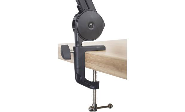 Gator Frameworks Desktop Mic Boom Stand Can be securely clamped to the end of a table or desk