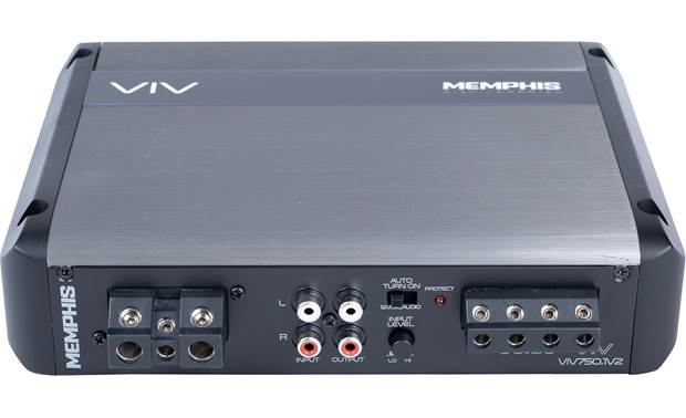 Memphis Audio VIV750.1V2 Audio and power ins and outs