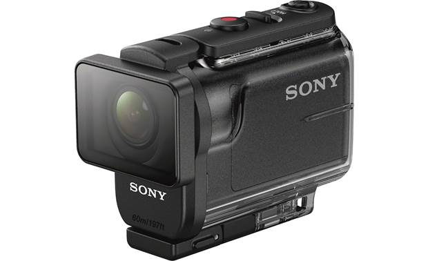 Sony HDR-AS50R Front (in waterproof housing)