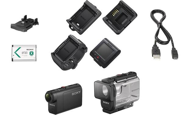 Sony HDR-AS50R Shown with included accessories