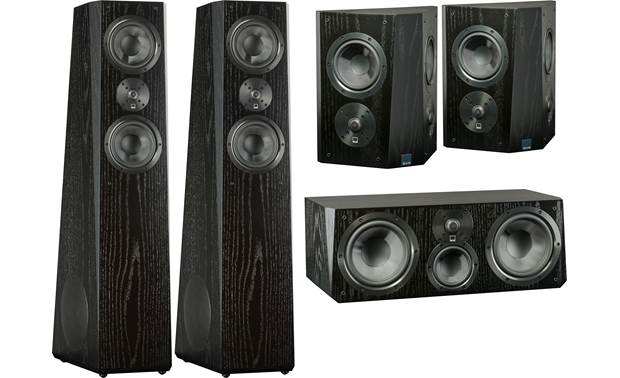 SVS Ultra Tower 5.0 Home Theater Speaker System Ultra tower, center, and surround speakers in this system