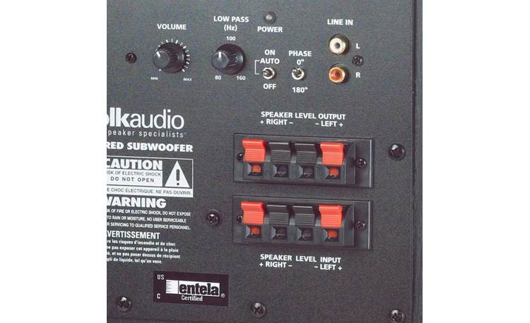 Polk Audio PSW10 Back