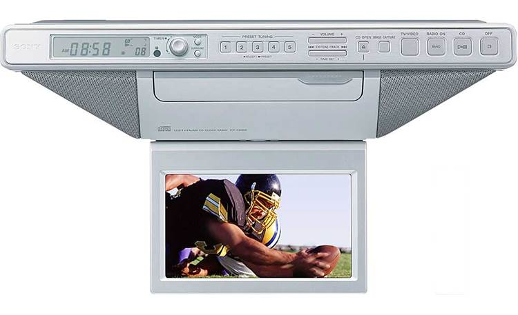 Sony Icf Cd555tv Under Cabinet Kitchen Lcd Tv With Cd Player At Crutchfield