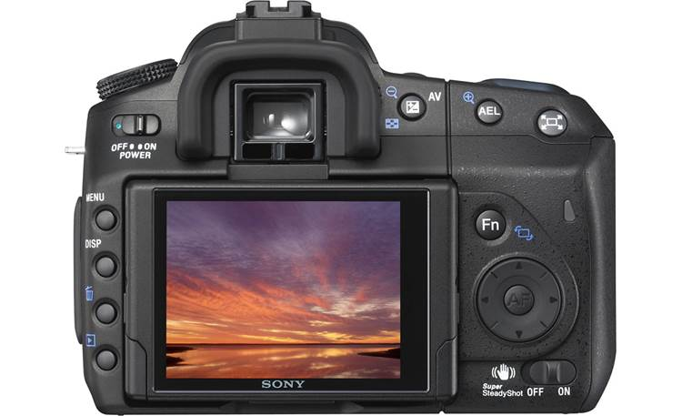 Sony DSLR-A300 Kit Back