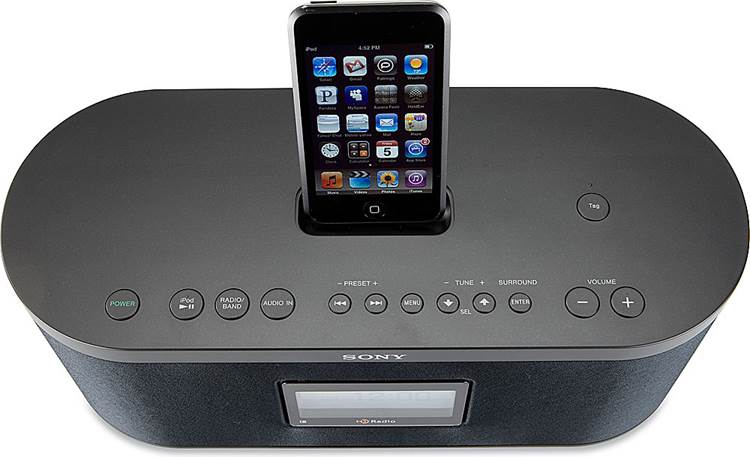 Sony XDR-S10HDiP Top (iPod not included)
