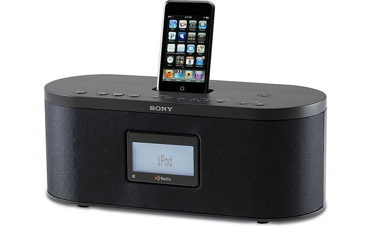 Sony XDR-S10HDiP Shown with iPod, not included