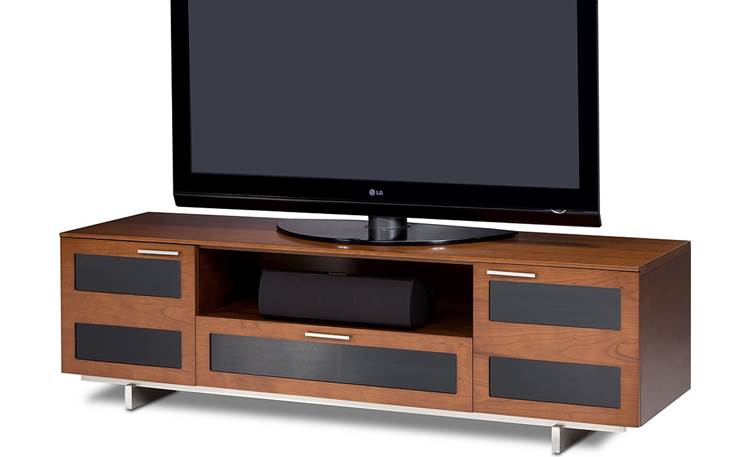 BDI Avion 8927 Series II Natural Cherry Finish - right front view (TV and components not included)