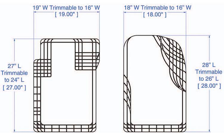 WeatherTech AVM™ Floor Mats Diagram of front mats