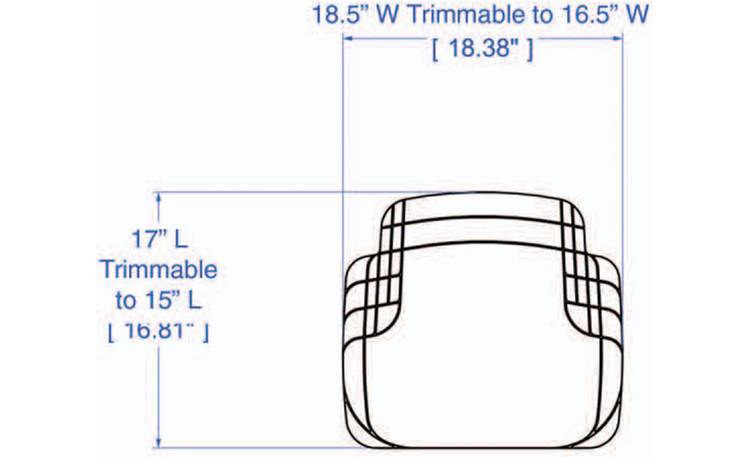 WeatherTech AVM™ Floor Mats Diagram of rear mat