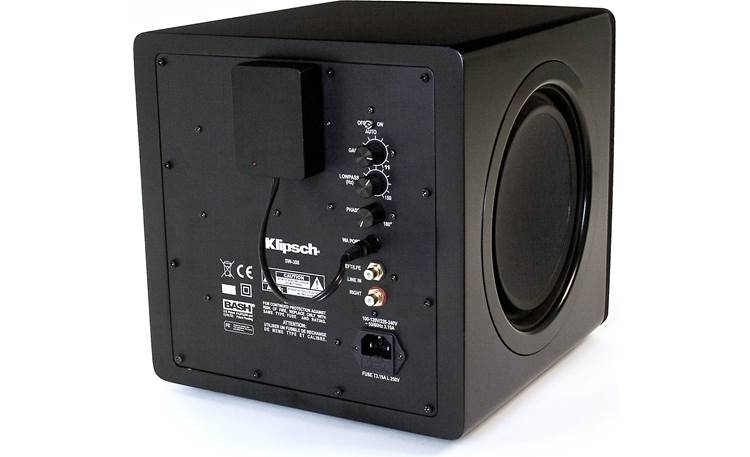 Klipsch WA-2 WA-2 receiver module connected to a Klipsch subwoofer