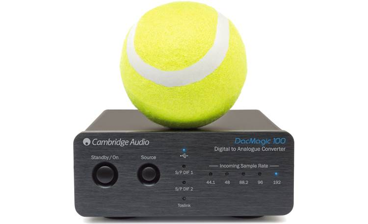 Cambridge Audio DacMagic 100 Shown with tennis ball (for scale)