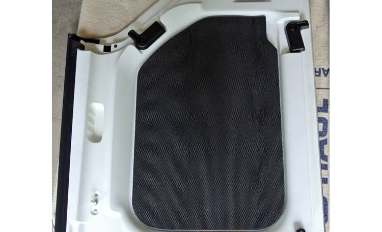 Boom Mat Sound Deadening Headliner Kit Headliner panel of 2012 Jeep Wrangler hard-top with Boom Mat installed