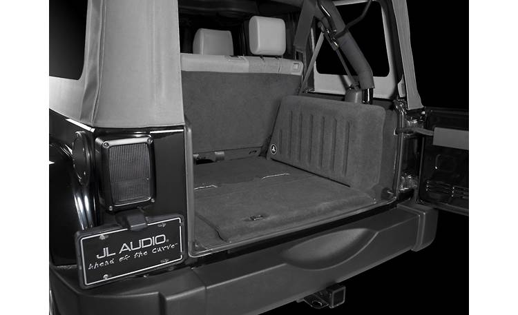 JL Audio Stealthbox® Stealthbox installed in Jeep