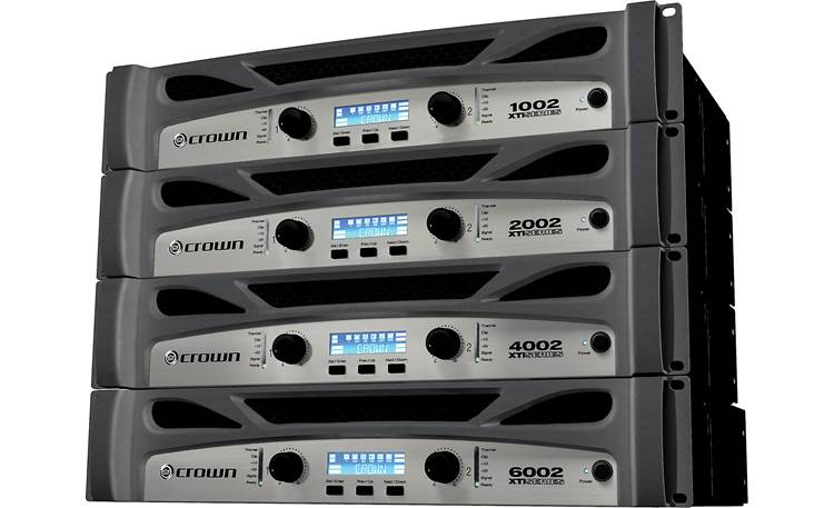Crown XTi 4002 All four models of Crown XTi Series 2 amplifiers.