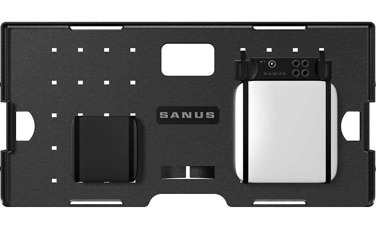 Sanus SA809 Mount components to panel (A/V gear not included), before securing them inside housing