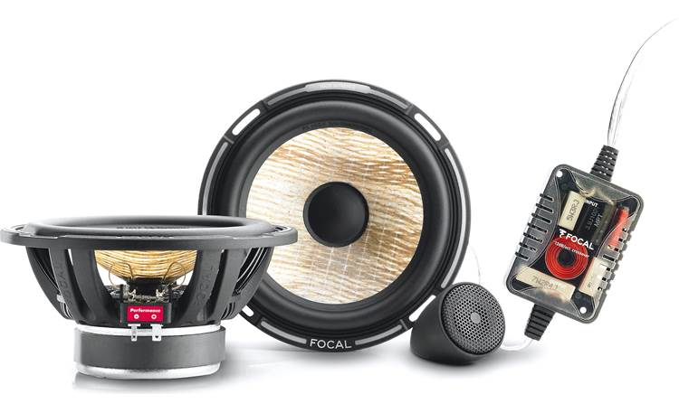 Focal Performance PS 165F Focal's PS 165FX component speakers include flax cones, inverted dome tweeters, and crossovers