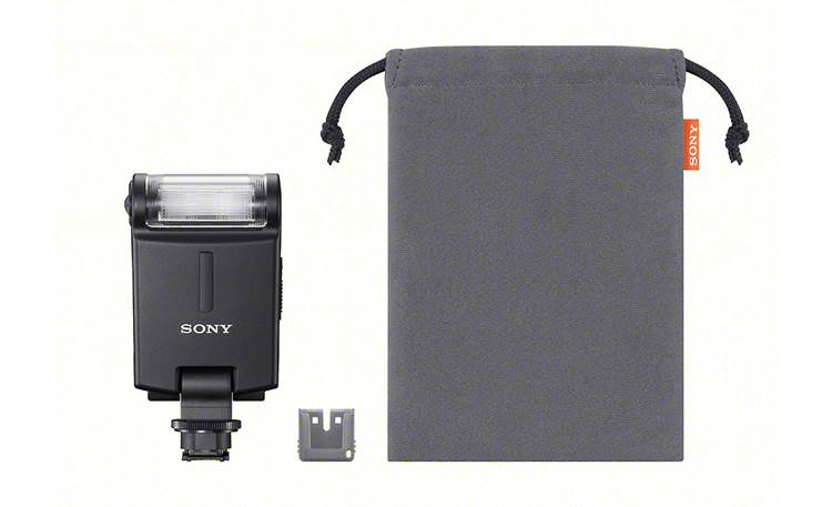 Sony HVL-F20M Shown with included accessories